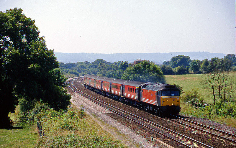 47845, 09.53 Penzance-Manchester Piccadilly, Cogload, 11-7-99.