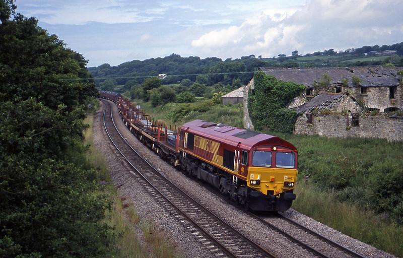 66107, up steel, Llangewydd Court Farm, near Bridgend, 2-7-99.