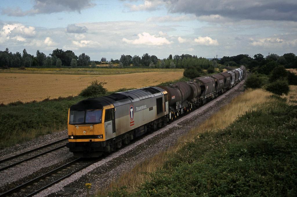 60063, 14.17 Newport Alexandra Dock Junction Yard-St Blazey, Creech St Michael, near Taunton, 21-7-99.