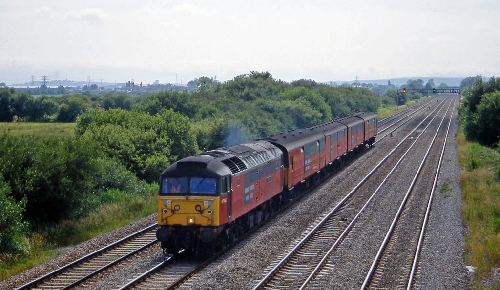 47765, 14.25 Swansea-London, St Mellons,near Cardiff, 7-7-99.