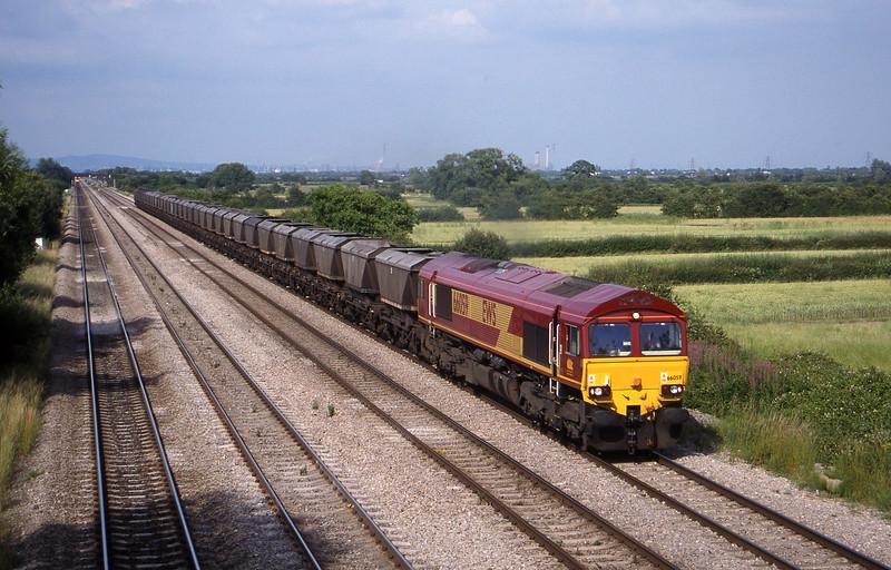 66059 17.37 Llanwern-Grange Sidings, St Mellons,near Cardiff, 7-7-99.