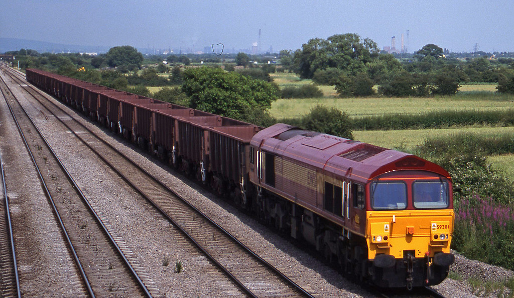 59201, 14.56 Llanwern-Port Talbot, St Mellons,near Cardiff, 7-7-99.