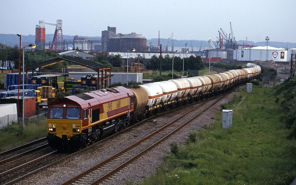 66110, 20-23 Hallen Marsh-Furzebrook, Hallen Marsh Junction, Avonmouth, 1-6-99.
