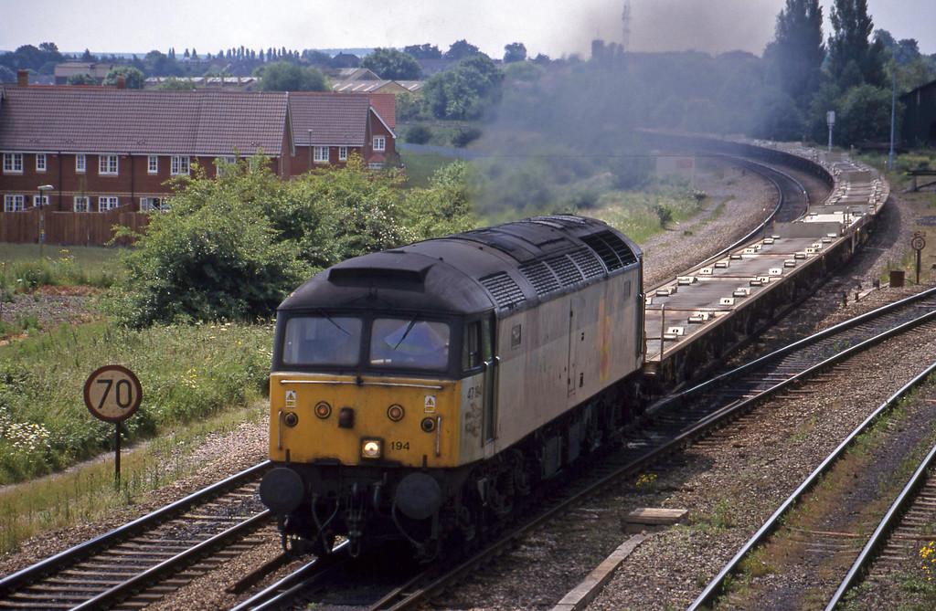 47194, 09.52 Suthampton East Docks-Bordesley, Didcot North Junction, 15-6-99.
