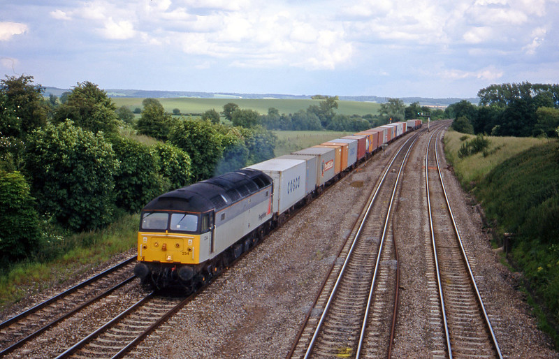 47234, 15.10 Southampton Millbrook-Coatbridge, South Moreton, near Didcot, 8-6-99.