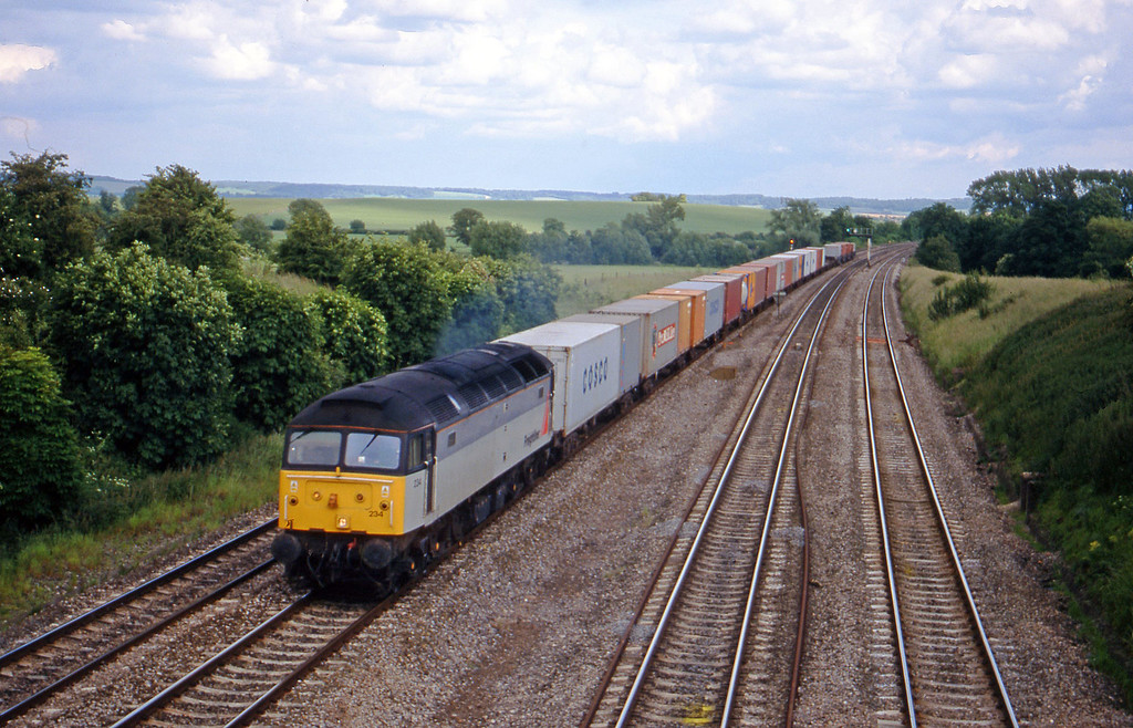 47234, 15.10 Southampton Millbrook-Coatbridge, South Moreton, near Didcot, 8-6-99.