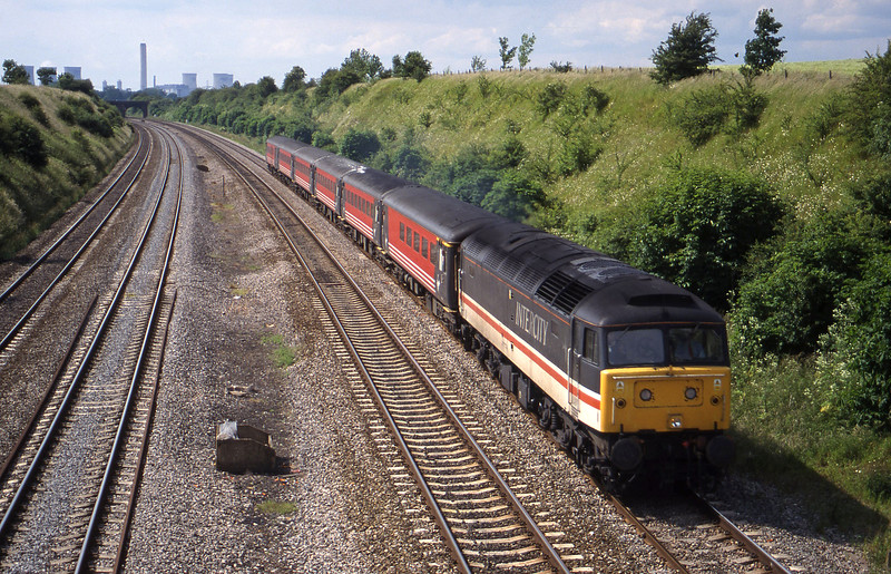 47839, 09.10 Edinburgh-Bournemouth, South Moreton, near Didcot, 8-6-99.
