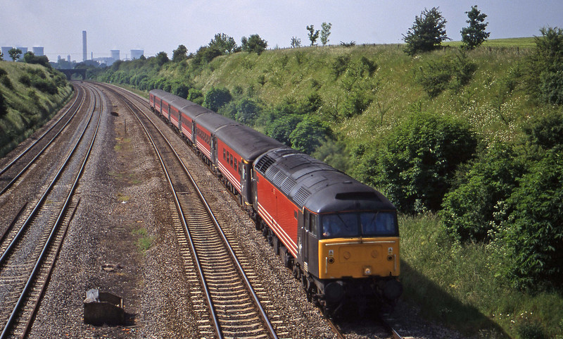 47/8, 09.10 Edinburgh-Bounremouth, South Moreton,near Didcot, 1-6-99.