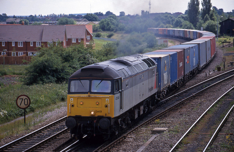 47349, 12.25 Southampton-Leeds, Didcot North Junction, 15-6-99.