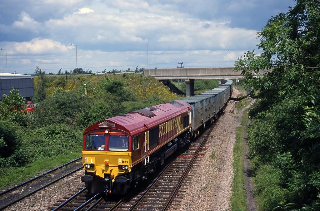 66102, 11.11 Calvert-Bath RTS, Didcot North Junction, 8-6-99.
