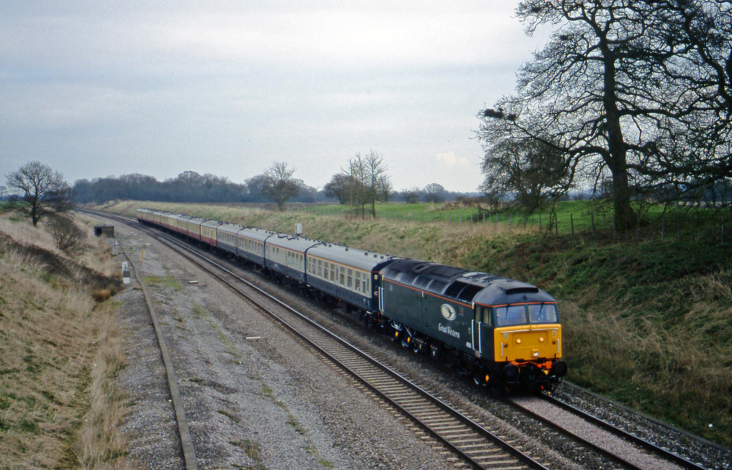 47815, down Cheltenham Races special, Compton Beauchamp, near Swindon,  16-3-99.