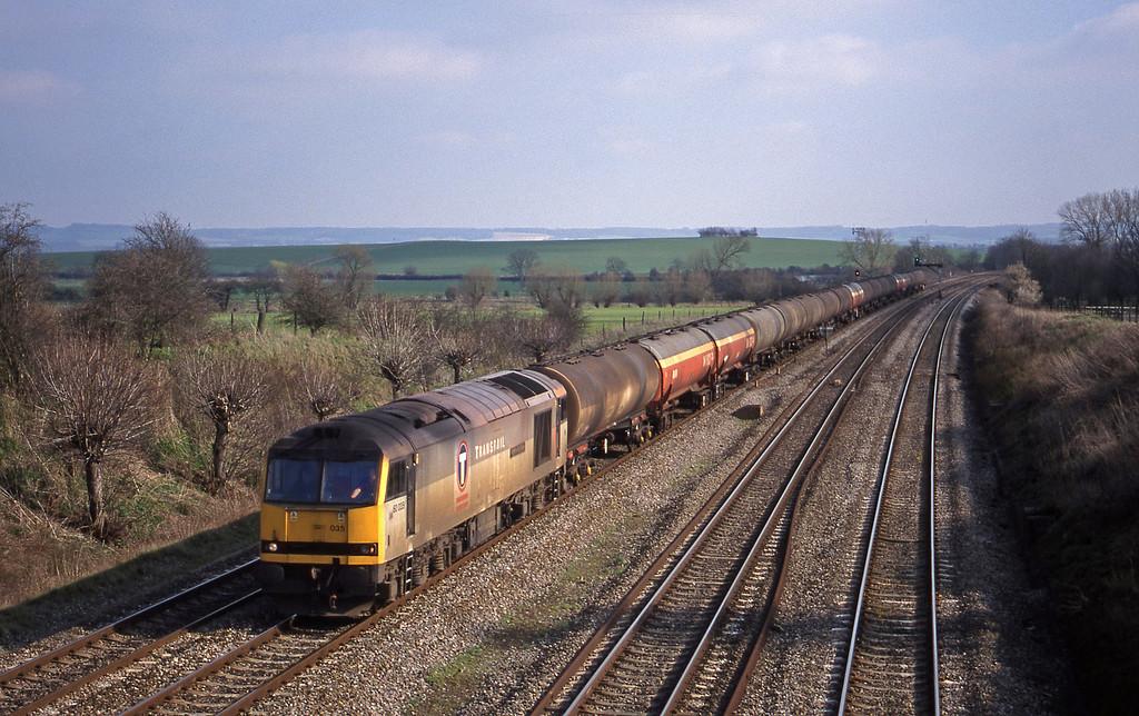 60035, 13.40 Theale-Robeston, South Moreton, near Didcot, 16-3-99.