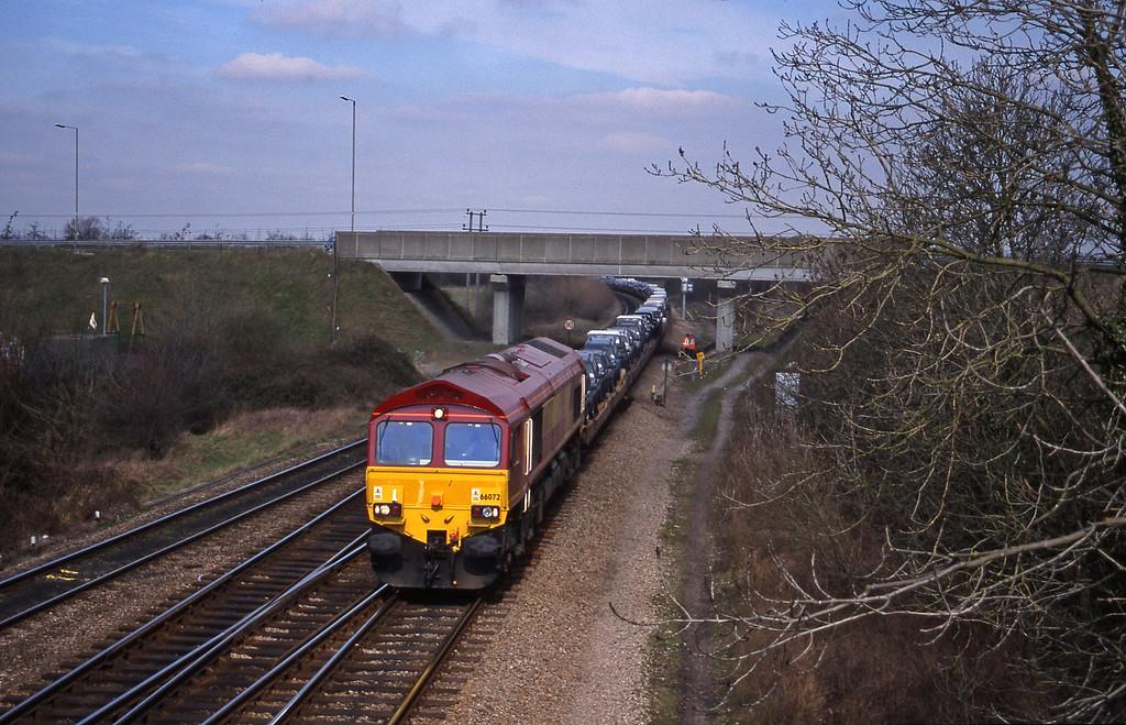 66072, 08.00 Washwood Heath-Dollands Moor, Didcot North Junction, 16-3-99.