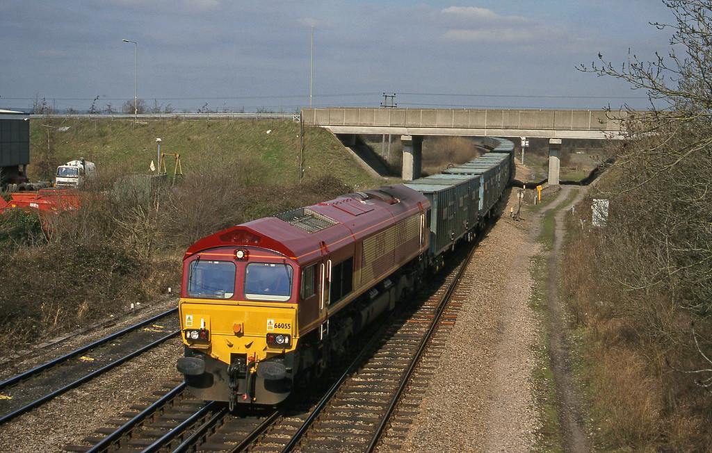 66055, 11.11 Calvert-Bath RTS, Didcot North Junction, 16-3-99.