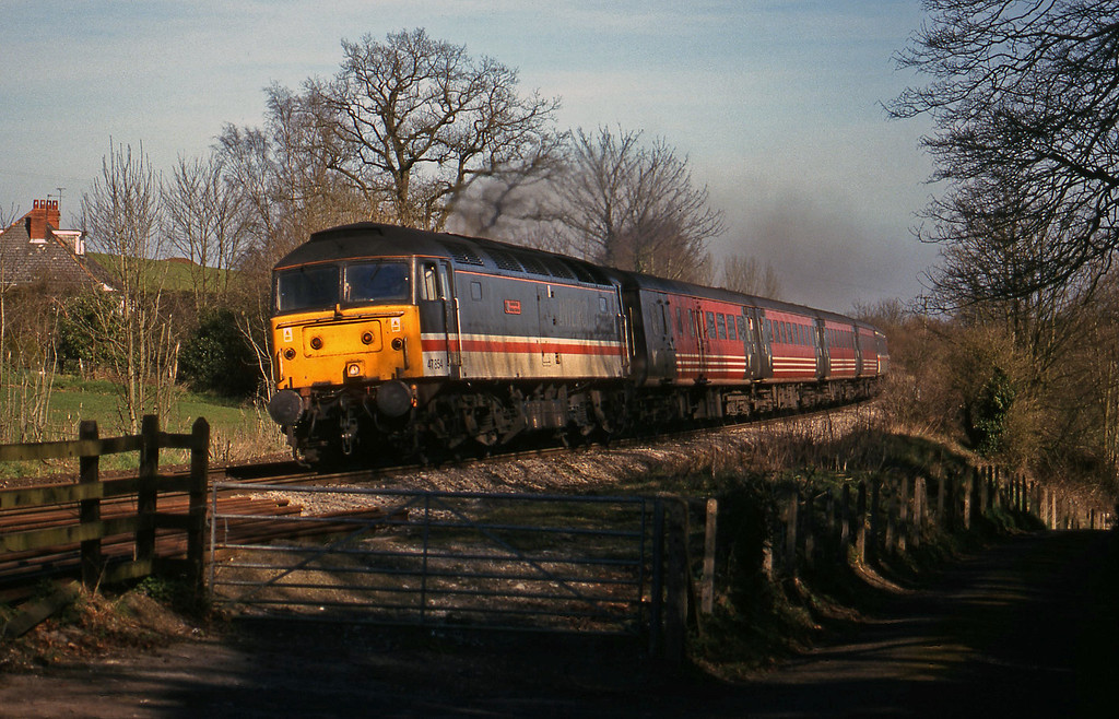 47854, 09.10 Liverpool Lime Street-Plymouth, Marlands, near Wellington, 17-3-99.