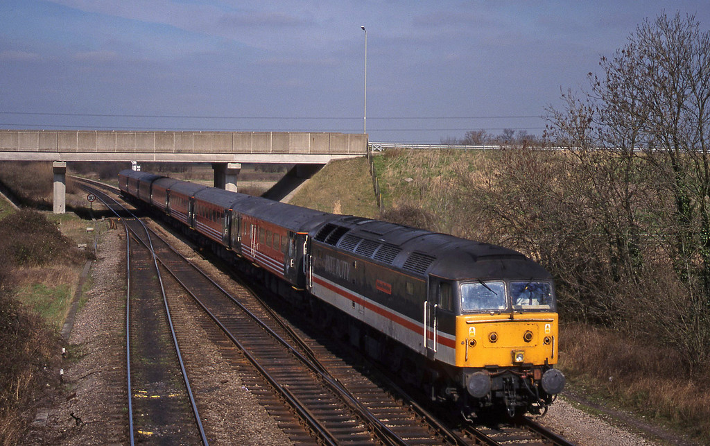 47831, 09.17 Manchester Piccadilly-London Paddington, Didcot North Junction, 16-3-99.