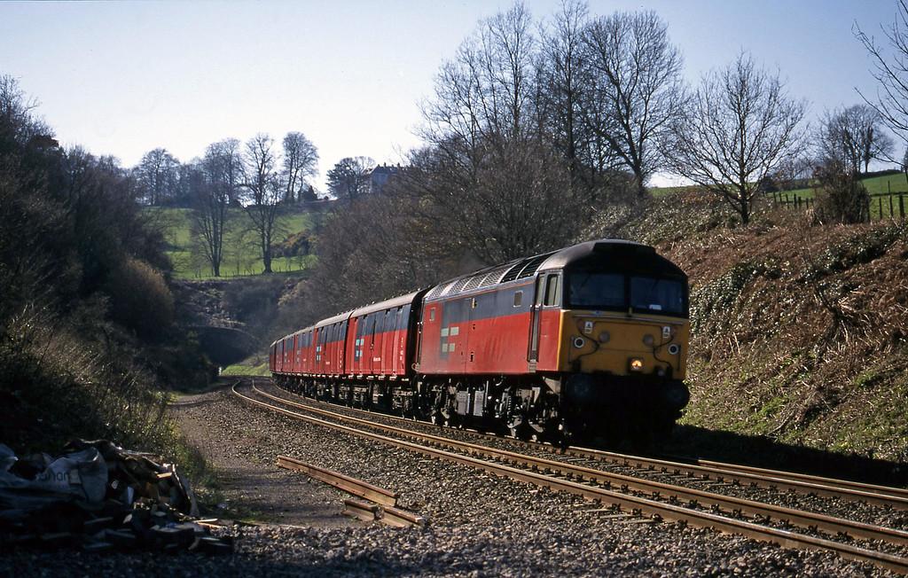 47759, 12.44 Plymouth-Glasgow, Marlands, near Wellington, 17-3-99.