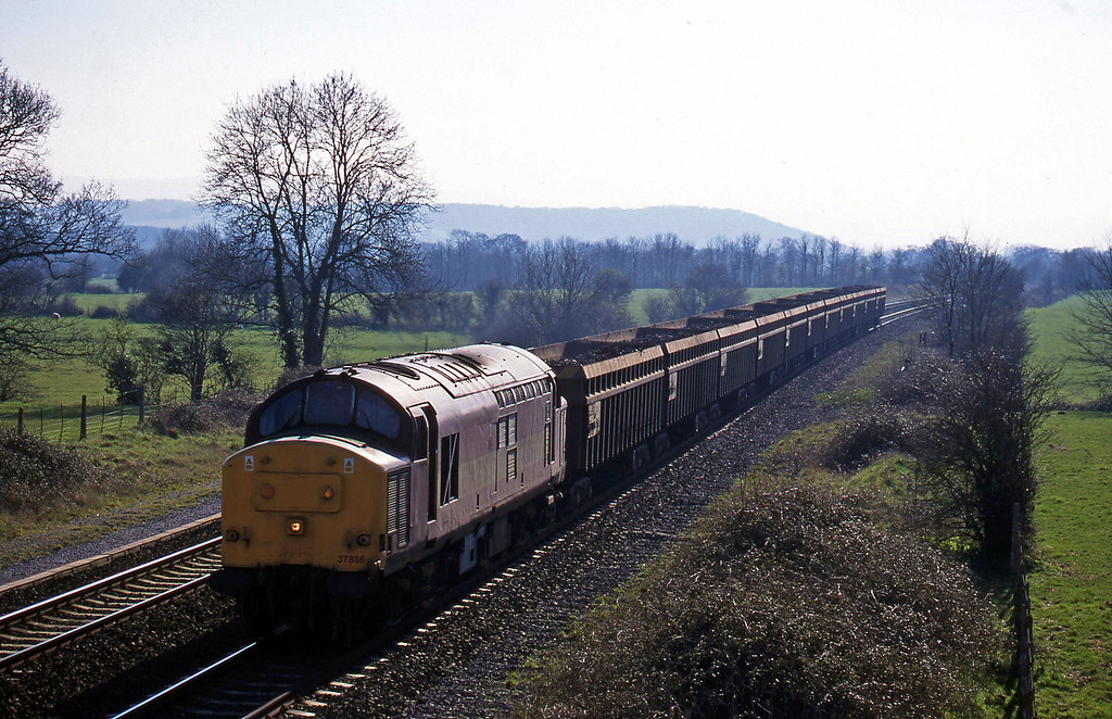 37886, 13.42 Exeter Alphington Road-Cardiff Tidal, Cogload, 17-3-99.