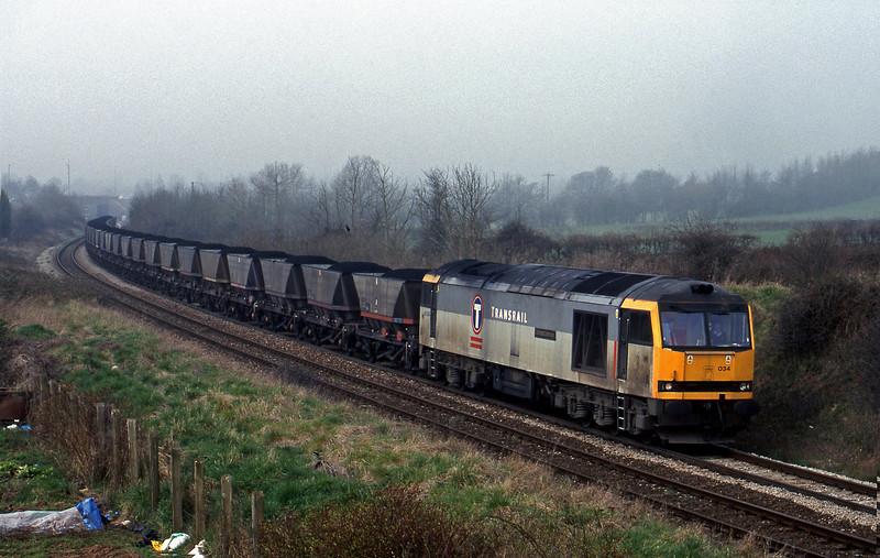60034, Avonmouth Bulk Handling Terminal-Didcot Power Station, Brentry, Bristol, 17-3-99.