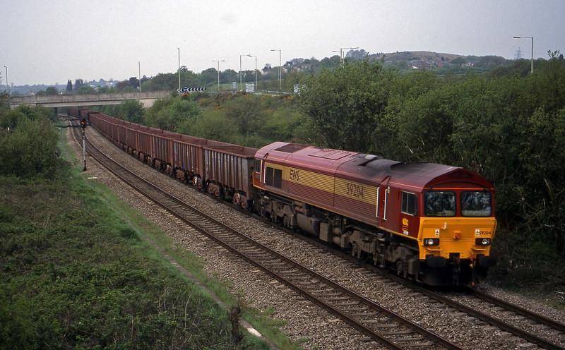 59204, 11.02 Port Talbot-Llanwern, Brynna, near Bridgend, 4-5-99.
