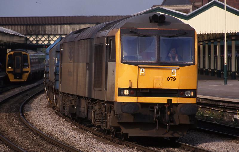 60079, 17.25 Llanwern-Ebbw Vale, Newport, 19-5-95. 158834, down.
