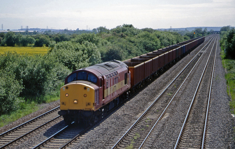 37714, up slag empties, St Mellons, near Cardiff, 25-5-99.