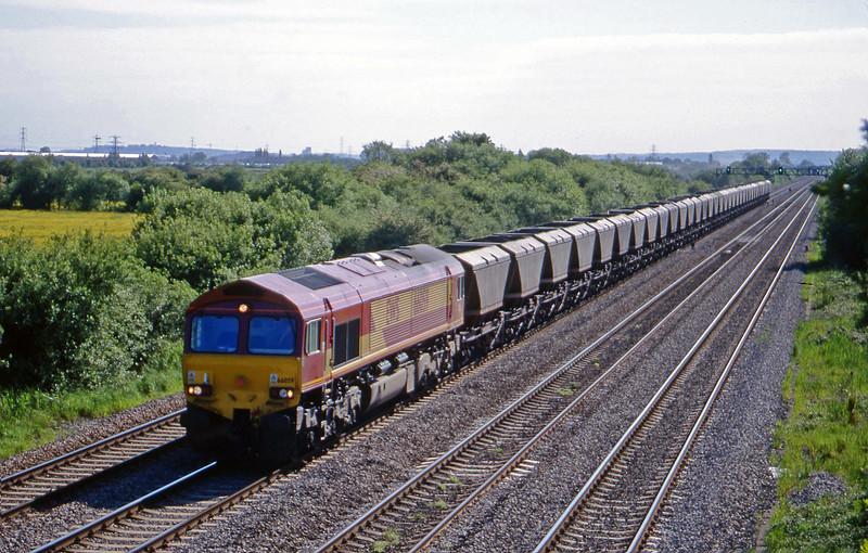 66059, 15.10 Grange Sidings-Llanwern, St Mellons, near Cardiff, 25-5-99.