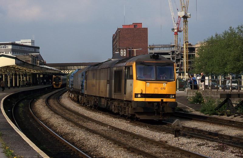 60079, 17.25 Llanwern-Ebbw Vale, Newport, 19-5-95.