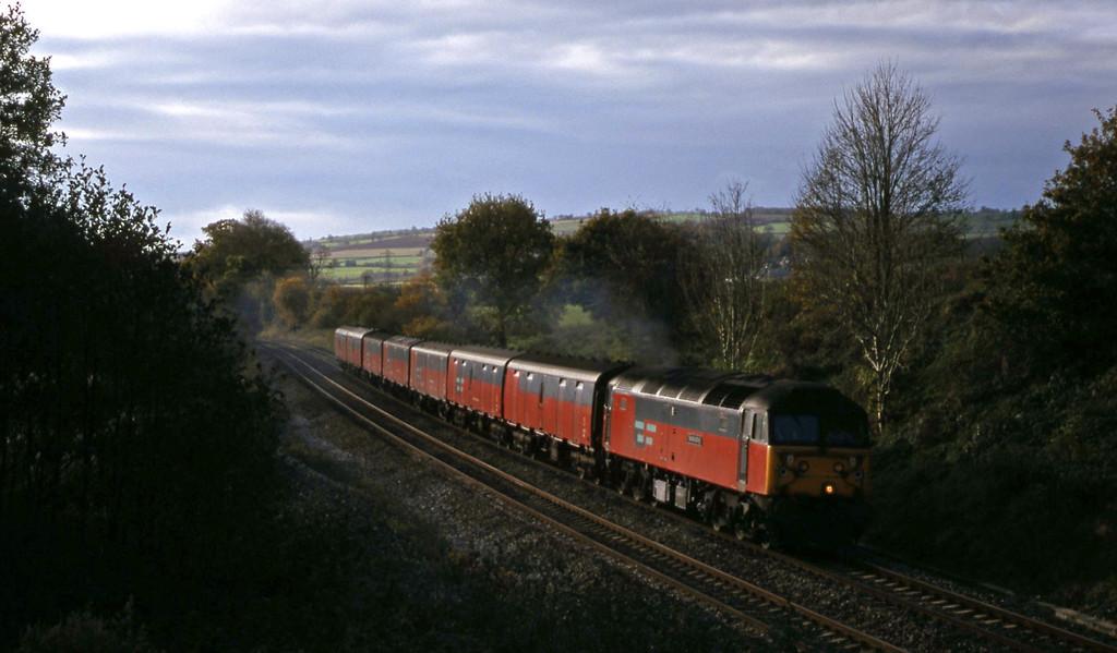 47764, 12.44 Plymouth-Glasgow, Whiteball, 17-11-99.