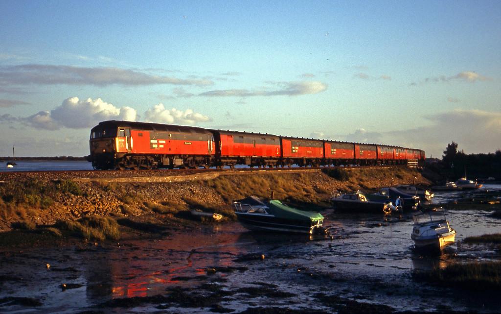 47764, 15.09 Plymouth-Low Fell, Gateshead, Cockwood Harbour, near Starcross, 2-11-99.