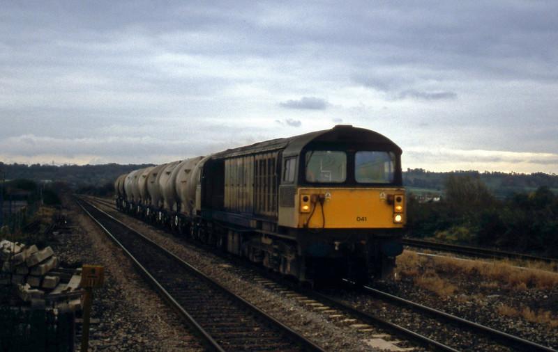 58041, 09.15 Westbury Cement Works-Newport Alexandra Dock Junction, Pilning, 4-11-99.