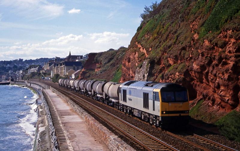 60077, 09.40 Burngullow-Newport Alexandra Dock Junction, Dawlish, 6-10-99.