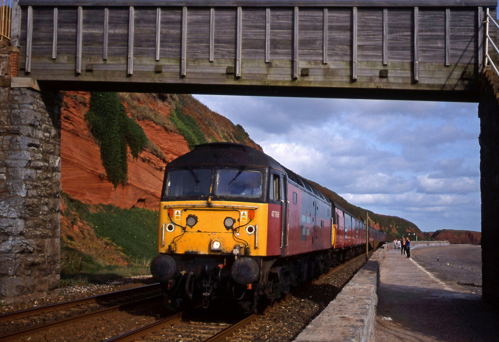47769, 12.15 Bristol Temple Meads-Plymouth, Dawlish, 11-10-99.
