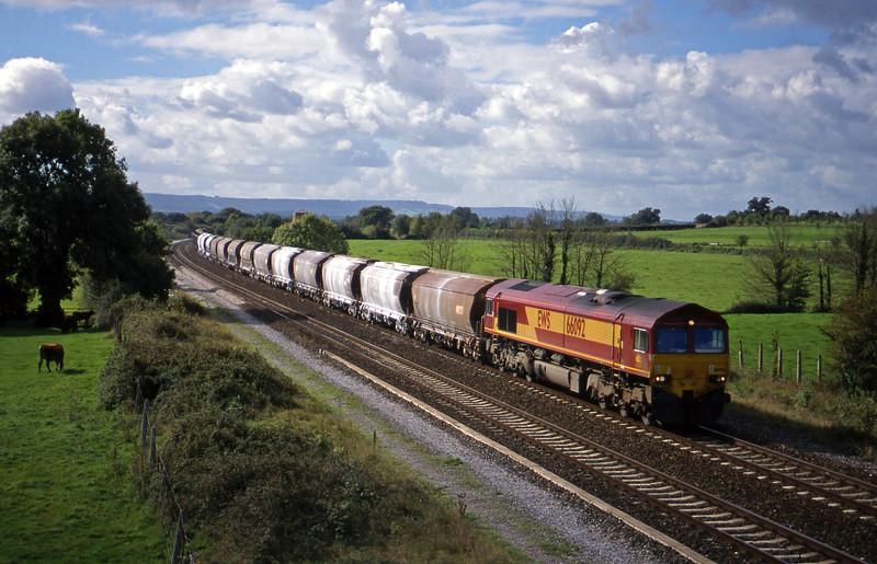 66092, 10.35 Exeter Riverside Yard-Dollands Moor, Cogload, 2-10.99.