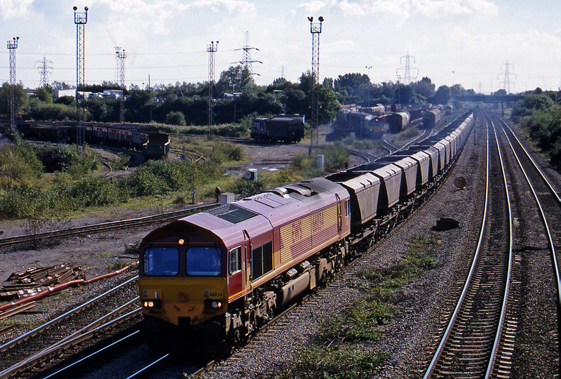 66034, 12.50 Port Talbot Grange Sidings-Llanwern,  Newport Alexandra Dock Junction, 5-10-99.