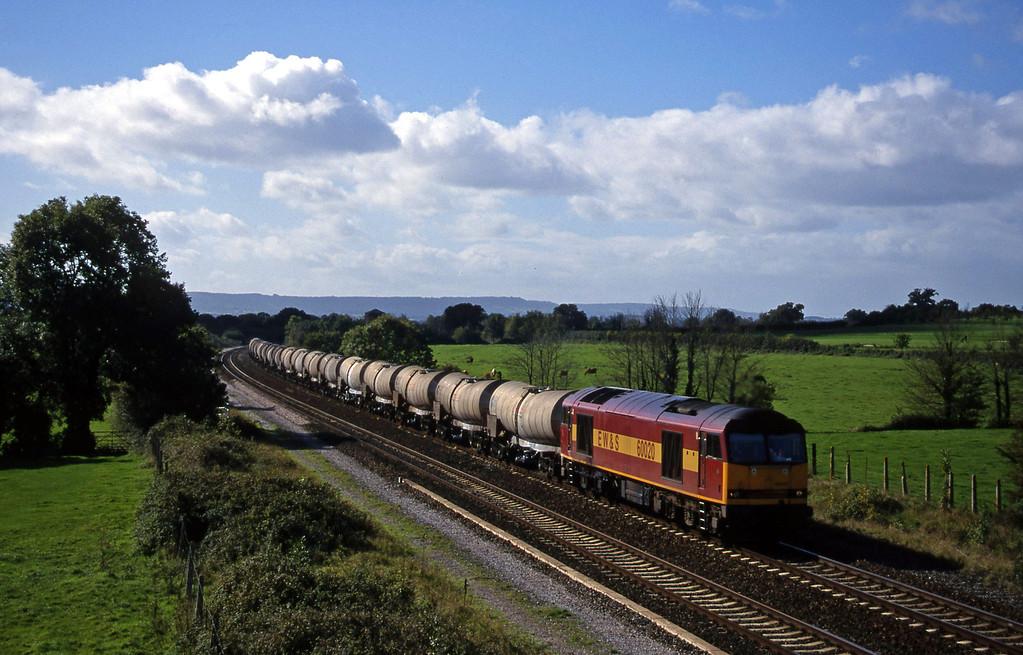 60020, 09.30 Burngullow-Newport Alexandra Dock Junction, Cogload, 2-10-99.