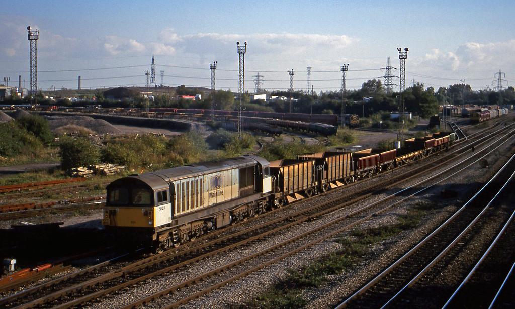 58031, up departmental, Newport Alexandra Dock Junction, 12-10-99.