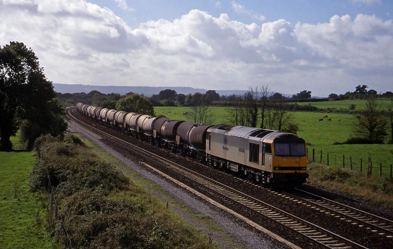 60100, 09.40 Burngullow-Newport Alexandra Dock Junction, Cogload, 29-9-99.