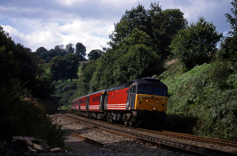 47845, 11.50 Plymouth-Liverpool Lime Street, Marlands, near Wellington, 9-9-99.