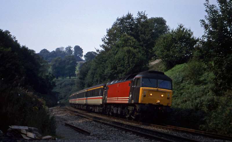 47818, 08.48 Penzance-Manchester Piccadilly, Marlands, near Wellington, 6-9-99.