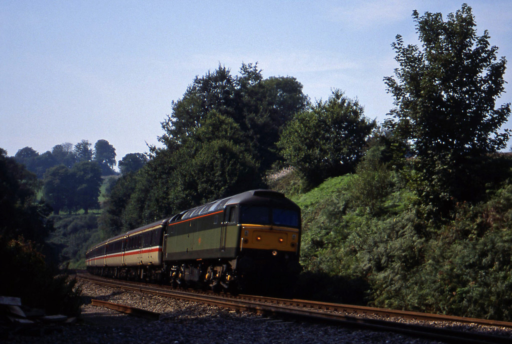 47488, 12.02 Paignton-Liverpool Lime Street, Marlands, near Wellington, 4-9-99.