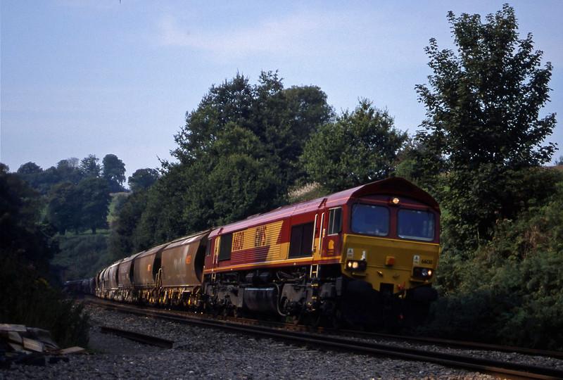66130, 10.35 Exeter Riverside Yard-Dollands Moor, Marlands, near Wellington, 6-9-99.