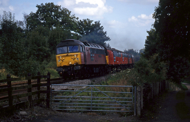 47722, 12.15 Bristol Temple Meads-Plymouth, Marlands, near Wellington, 9-9-99.