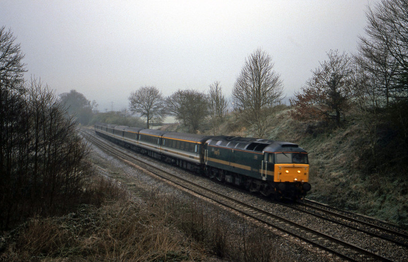 47832, 06.30 Plymouth-London Paddington, Whiteball, 7-4-00 (fog).
