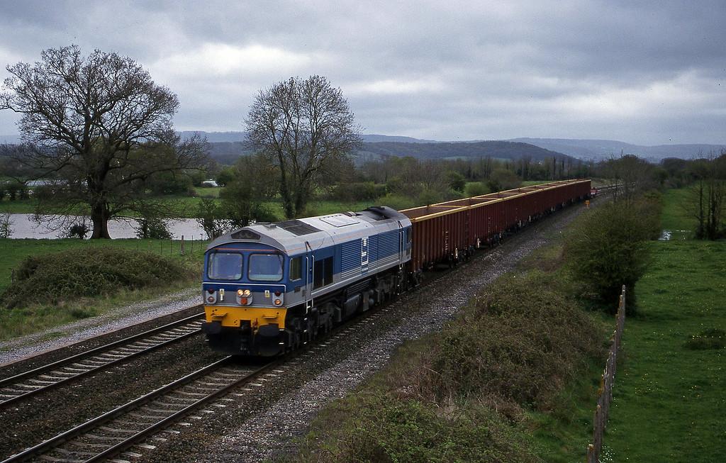 59001, Exeter Riverside Yard-Westbury, Cogload, 25-4-00.