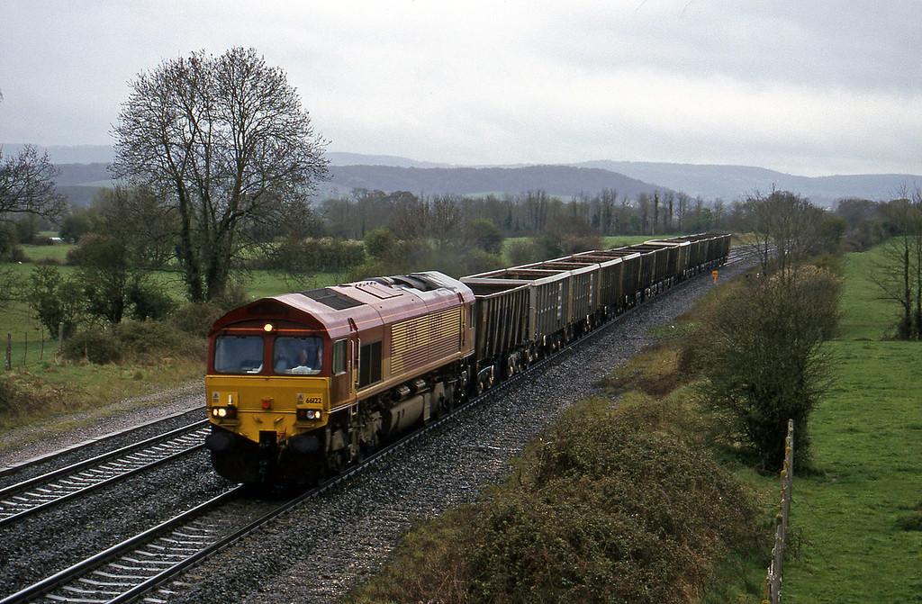 66122, Exeter Riverside Yard-Westbury Yard, Cogload, 11-4-00.