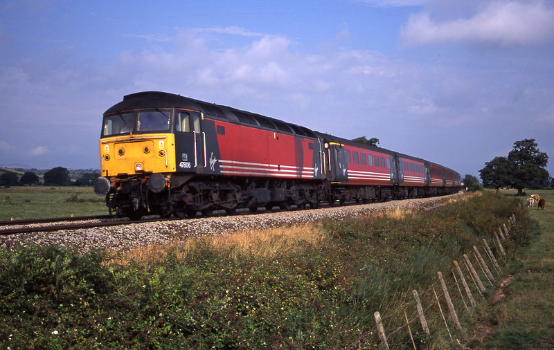 47806, 06.05 Derby-Plymouth, Powderham, near Exeter, 31-8-00.