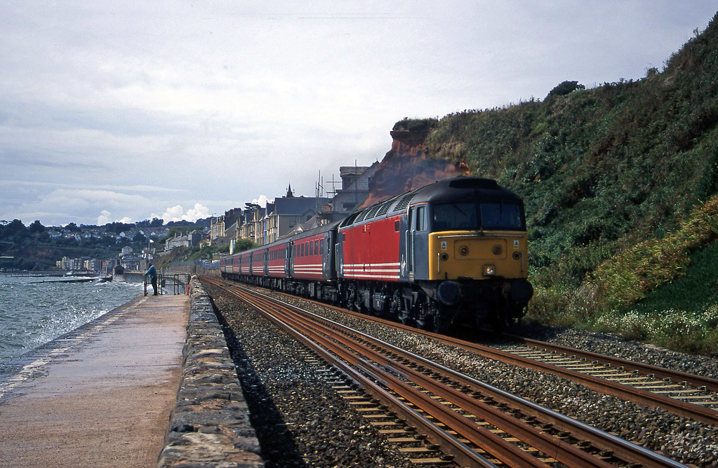 47806, 11.50 Plymouth-Liverpool Lime Street, Dawlish, 22-8-00.