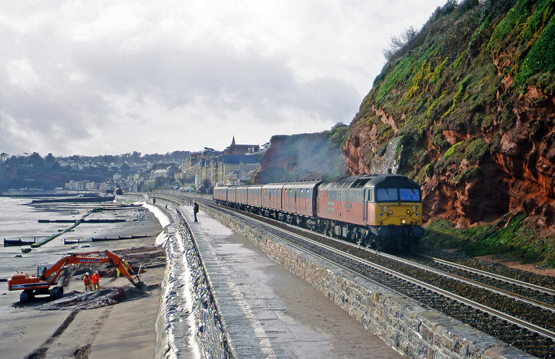 47734, 12.44 Plymouth-Glasgow, Dawlish, 7-2-00.