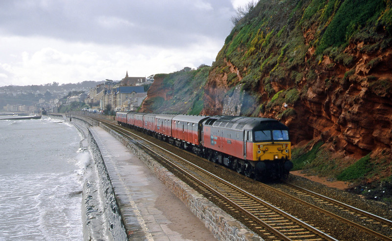 47726, 12.44 Plymouth-Glasgow, Dawlish, 29-2-00.